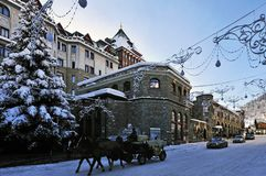 Christmas in St. Moritz Stock Photography