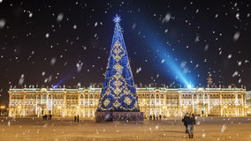 Christmas St. Petersburg. Hermitage on Palace Square Royalty Free Stock Images
