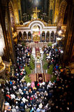 Christmas in the St. Volodymyr's Cathedral. Kiev. Royalty Free Stock Photo