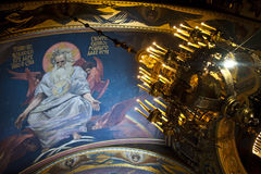 Christmas in the St. Volodymyr's Cathedral. Kiev. Stock Image