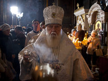 Christmas in the St. Volodymyr's Cathedral. Kiev. Stock Photo