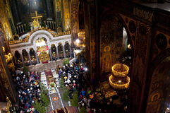 Christmas in the St. Volodymyr's Cathedral. Kiev. Royalty Free Stock Images