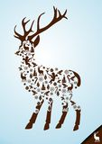 Christmas Stag Elements Stock Images