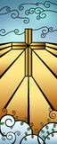 Christmas Stained Glass Nativity Banner Royalty Free Stock Photography
