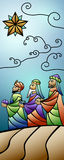 Christmas Stained Glass Nativity Banner Royalty Free Stock Image