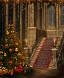 Christmas stairs Royalty Free Stock Photo