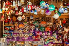 Christmas stall in Prague, Czech Republic. Stock Photography