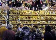 Christmas stall in Rome. Christmas stall in Piazza Navona (Rome) selling handmade Nativity sets Stock Photography