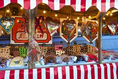 Christmas stalls in London Stock Image