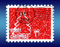 Christmas Stamp. Christmas, and snow postage Stamp Royalty Free Stock Photos