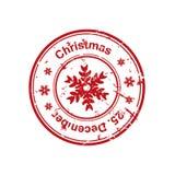Christmas stamp Stock Photography