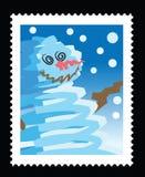 Christmas stamp Stock Image