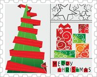 Christmas stamp Stock Photo
