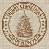 Christmas stamp Royalty Free Stock Image