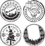 Christmas stamp set Royalty Free Stock Photography