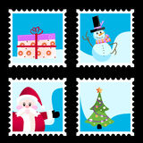 Christmas stamp vector Stock Image