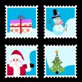 Christmas Stamp Vector Stock Image