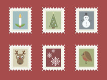 Christmas stamps royalty free illustration