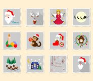 The christmas stamps Stock Images