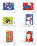 Christmas Stamps Collection Stock Photo