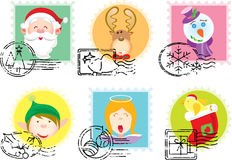 Christmas Stamps collection Stock Photography