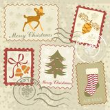 Christmas stamps collection Royalty Free Stock Image