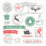 Christmas Stamps Collection Stock Images