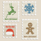 Christmas stamps Stock Image