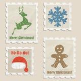 Christmas stamps Stock Image