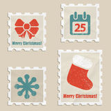 Christmas stamps Royalty Free Stock Image