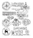 Christmas stamps vector Stock Image