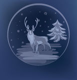 Christmas standing raindeer background Royalty Free Stock Images