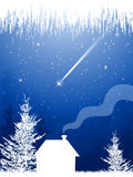 Christmas star. Winter night and Christmas star Stock Images