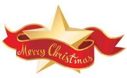 Christmas star. And Merry christmas banner Stock Photos