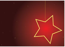 Christmas star. Red background with christmas star -  illustration Stock Photography
