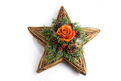 Christmas star. Christmas decoration isolated on a white background Royalty Free Stock Photo