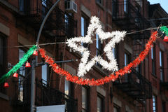 Christmas star. A christmas star in new-york Stock Image