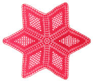Christmas Star. Christmas Red Star connected with the hook Royalty Free Stock Photos