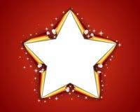 Christmas star. Illustration - original new year card Stock Photography
