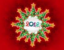 Christmas star. Christmas tree star 2012 like a gift card Royalty Free Stock Photography
