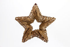 Christmas star. Decoration in front of a white background Royalty Free Stock Photography