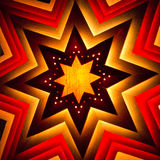 Christmas star. Star Christmas ornament, backlit, square crop Stock Photos