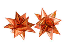Christmas star. Paper christmas star red decoration closeup selected Stock Photography