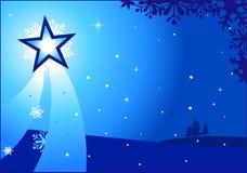 Christmas star. A beautiful star on Christmas Eve vector illustration