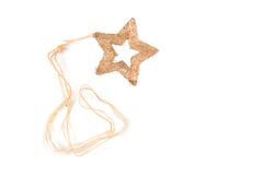 Christmas star. On the white stock photography