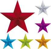 Christmas star. Vector illustration of textured christmas star in assorted colors Royalty Free Stock Photography