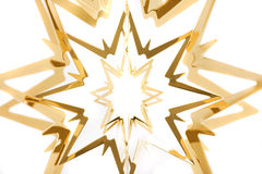 Christmas star. Closeup of golden Christmas star Royalty Free Stock Photo