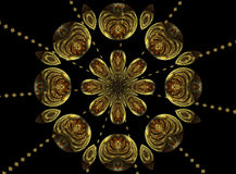 Christmas star. Abstract fractal mandala background very suitable for christmas Royalty Free Stock Image