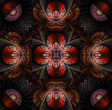 Christmas star. Abstract fractal mandala background very suitable for christmas Royalty Free Stock Photos
