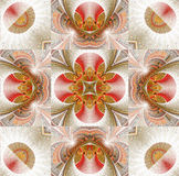 Christmas star. Abstract fractal mandala background very suitable for christmas Stock Images